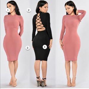 Mauve long sleeve short dress